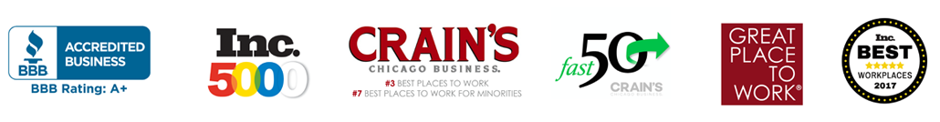 neighborhood loans awards consist of bbb, inc 5000, crains, great place to work and inc best workplaces