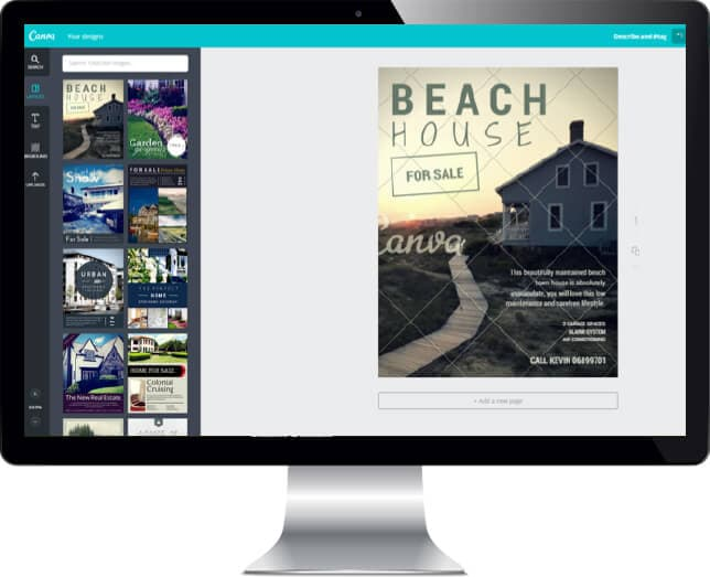 canva how to use for real estate