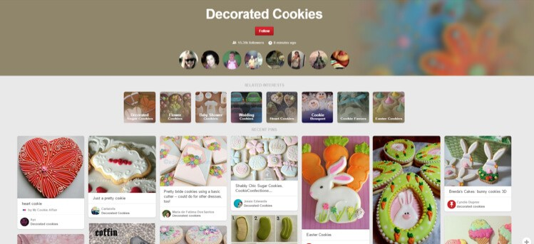 decorated cookies pinterest section