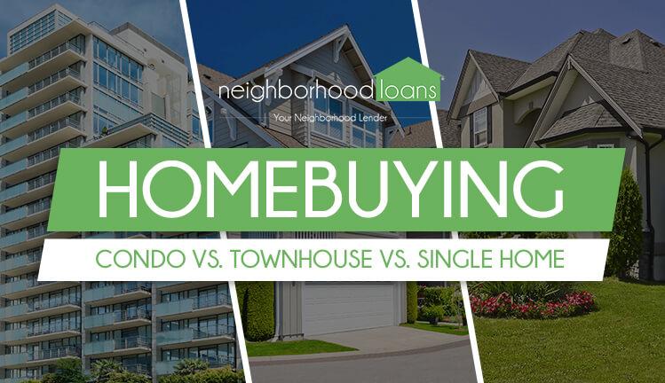 homebuying condo vs townhouse vs single home