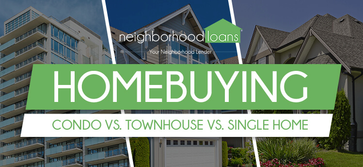 homebuying condo vs townhouse vs single home