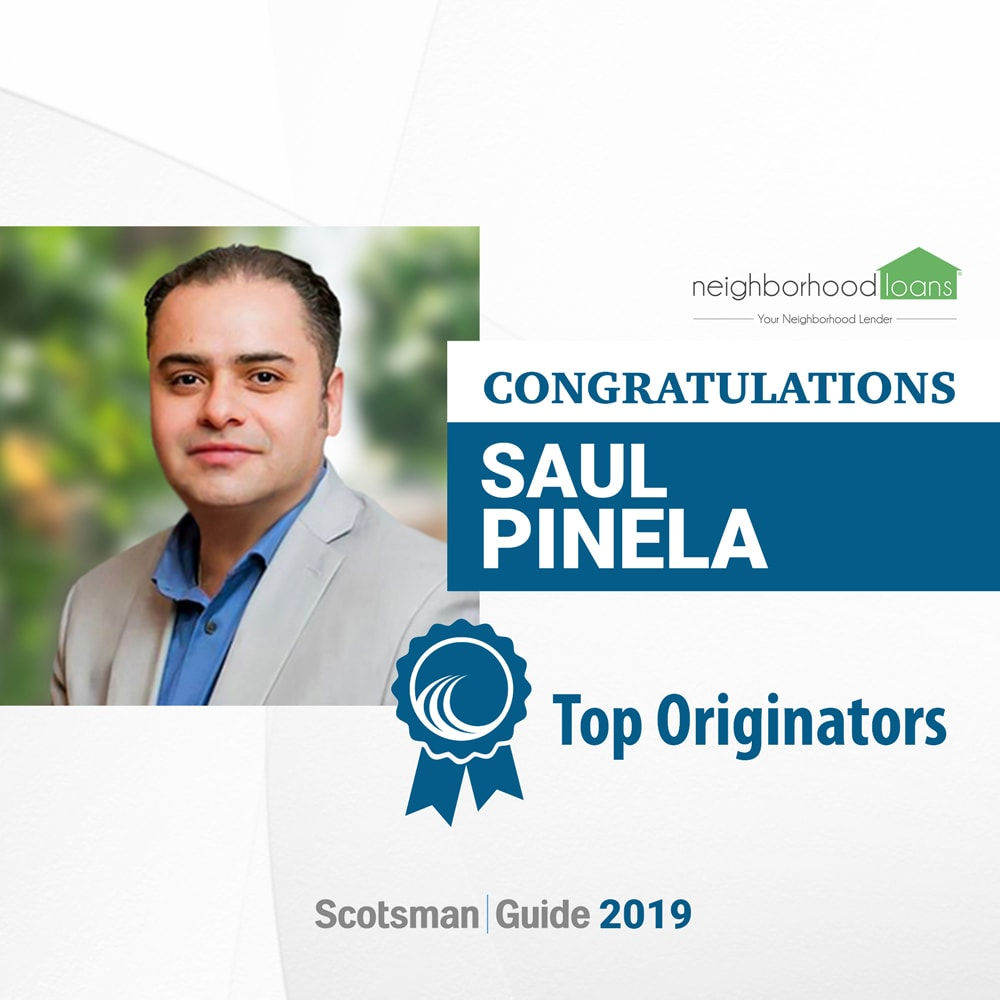 Saul Pinela of Neighborhood Loans Awared in Scotmans Guide 2020