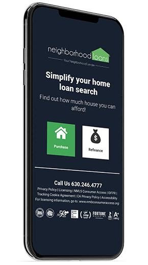mortgage app snapshot